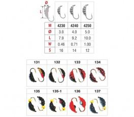 Mormiška «KĀPURS» Nr. 42 ar austiņu (4 mm, 0,8 g, krāsa: 131, iep. 10 gab.)