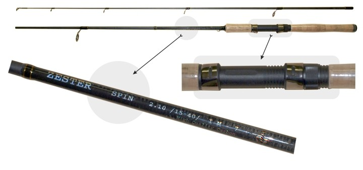 Удилище AKARA «ZESTER IM-7» 2X (штек., 2,10 м, карб., 165 г, тест: 10-30 г)