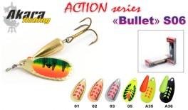 Māneklis AKARA «Bullet» Action S06 RT (rotējošs, 6 g, Nr.2, krāsa: A29, iep. 1 gab.)