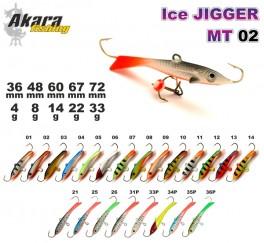 Ziemas māneklis «Ice Jigger MT» 02 (horiz., 72 mm, 33 g, krāsa: 10, iepak. 1 gab.)