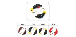 Mormiška «KĀPURS» Nr. 42 A (akmens) ar austiņu (5 mm, 1,1 g, krāsa: 134, iep. 10 gab.)