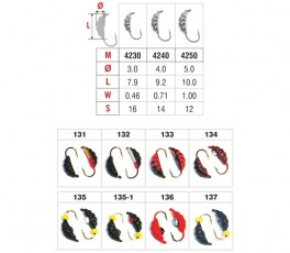 Mormiška «KĀPURS» Nr. 42 A (akmens) ar austiņu (5 mm, 1,1 g, krāsa: 135-1, iep. 10 gab.)
