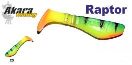 Silikona māneklis AKARA SOFTTAIL «Raptor R 3 ST» (75 mm, krāsa 25, iep. 3 gab.)