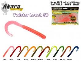 @ Silikona māneklis AKARA SOFTTAIL Eatable «Twister Leech» (90 mm, krāsa K002, iep. 10 gab.)