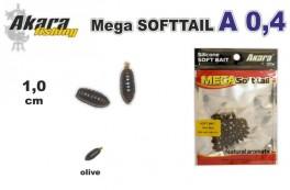 @ Silikona māneklis AKARA Mega SOFTTAIL «A 0,4» (10 mm, krāsa olive, iep. 40 gab.)