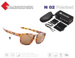 Saulesbrilles TAGRIDER N 02 (polarizētas, filtru krāsa: Brown)