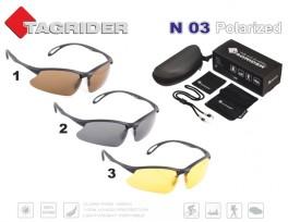 Saulesbrilles TAGRIDER N 03 (polarizētas, filtru krāsa: Yellow)