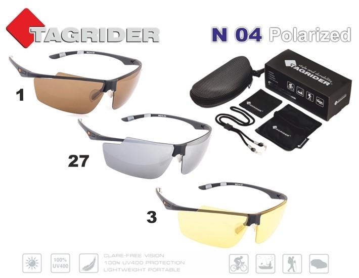 Saulesbrilles TAGRIDER N 04 (polarizētas, filtru krāsa: Gray Mirror)