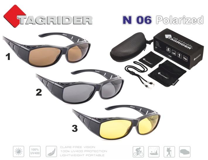 Saulesbrilles TAGRIDER N 06 (polarizētas, filtru krāsa: Brown)