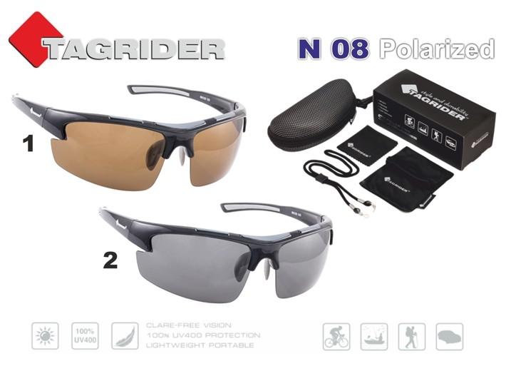 Saulesbrilles TAGRIDER N 08 (polarizētas, filtru krāsa: Brown)