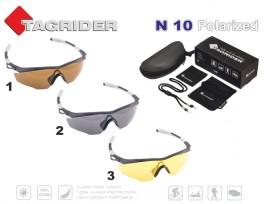 Saulesbrilles TAGRIDER N 10 (polarizētas, filtru krāsa: Brown)