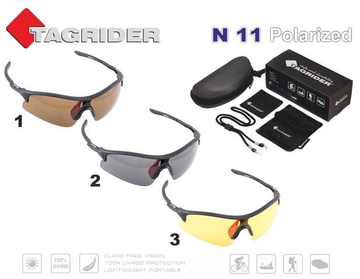 Saulesbrilles TAGRIDER N 11 (polarizētas, filtru krāsa: Gray)
