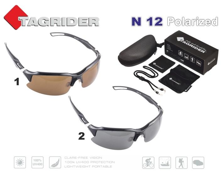 Saulesbrilles TAGRIDER N 12 (polarizētas, filtru krāsa: Brown)