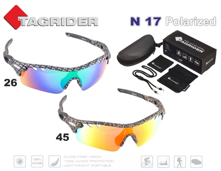 Saulesbrilles TAGRIDER N 17 (polarizētas, filtru krāsa: Gold Red Mirror)
