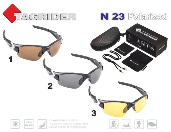 Saulesbrilles TAGRIDER N 23 (polarizētas, filtru krāsa: Brown)