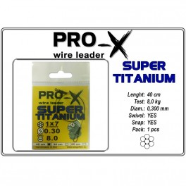 Pavadiņa PRO-X SUPER TITANIUM 1x7 0.300 - 40
