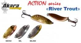 Māneklis AKARA «River Trout» Action SH (šūpojošs, 18 g, 60 mm, krāsa: SIL/GO, iep. 1 gab.)