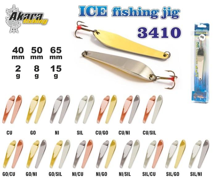 Ziemas māneklis «Ice Jig» 3410 (vert., 40 mm, 2 g, krāsa: CU, iepak. 1 gab.)