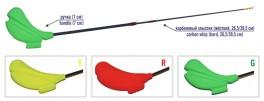 Ziemas makšķere AKARA HL-TC-2 (oglekļšķ. spice 2x, 26,5/39,5 cm, rokturis 70 mm, sarkana)