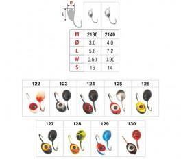 Мормышка «ПЛАВУНЕЦ» № 21 E (3D глазок) с ушком (5 мм, 1.3 г, цвет: 125, упак. 10 шт.)