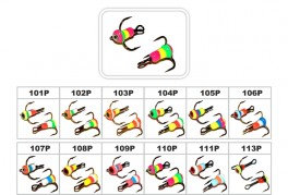 Āķi AKARA MS-E (Nr. 10, 109P, trīsžuburis, iep. 10 gab.)
