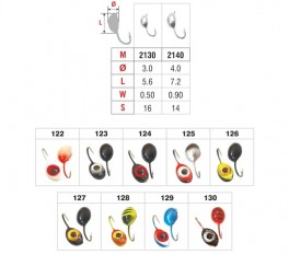 Mormiška «SĀNPELDIS» Nr. 21 E (3D actiņa) ar austiņu (5 mm, 1,3 g, krāsa: 126, iep. 10 gab.)