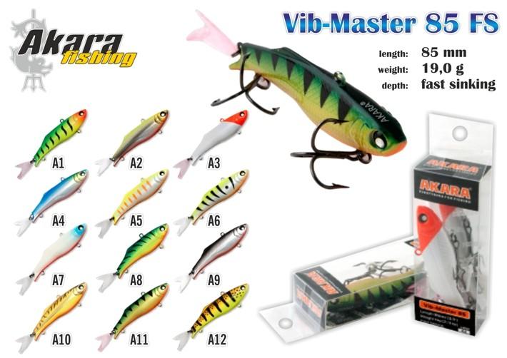 Vobleris AKARA «Vib-Master» 85 FS (19 g, 85 mm, krāsa A5, iep. 1 gab.)