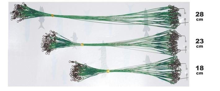 Набор поводков F2F 1x7 (18 - 23 - 28 см, 41,0 кг, упак. 3 x 24 шт.)