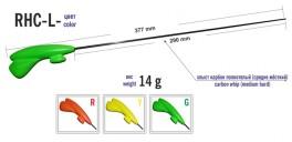 Ziemas makšķere AKARA RH-CL (oglekļšķ. spice, 29 cm, rokturis 80 mm, zaļa)