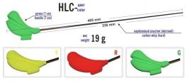 Ziemas makšķere AKARA HL-C 1R (oglekļšķ. spice, 33 cm, rokturis 70 mm, zaļa)