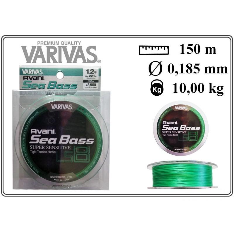 Pītā aukla VARIVAS Sea BASS x8 LS - 1.2