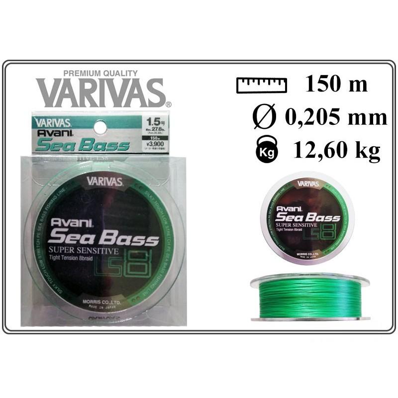 Pītā aukla VARIVAS Sea BASS x8 LS - 1.5