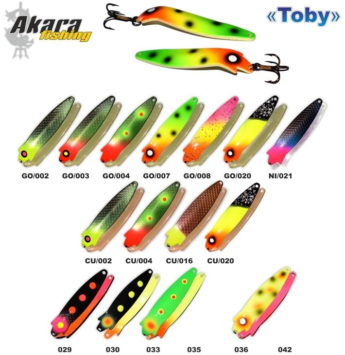 Māneklis AKARA «Toby» 90 P0206 SH (šūpojošs, 19 g, 90 mm, krāsa: O29, iep. 1 gab.)
