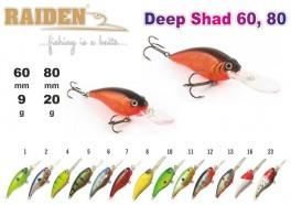 @ Vobleris RAIDEN «Deep Shad» 80 F (20 g, 80 mm, krāsa 1, iep. 1 gab.)