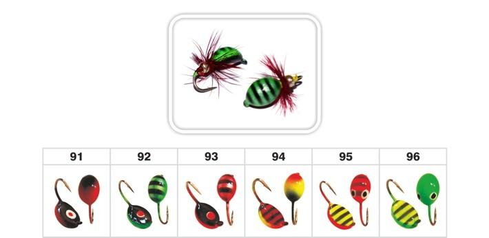 Mormiška «SĀNPELDIS» Nr. 21 F (muša) ar austiņu (4 mm, 0,85 g, krāsa: 92, iep. 10 gab.)