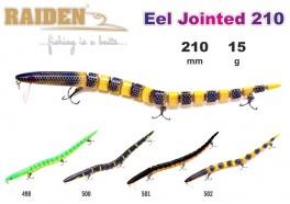 @ Vobleris RAIDEN «Eel Jointed» 210 F (15 g, 210 mm, krāsa 502, iep. 1 gab.)