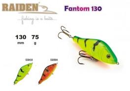 @ Vobleris RAIDEN «Fantom» 130 WS (75 g, 130 mm, krāsa SS0504, iep. 1 gab.) koks