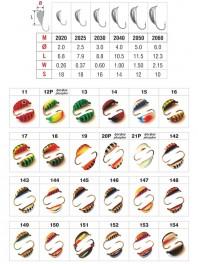 Mormiška «RĪGAS BANĀNS» Nr. 20 ar austiņu (6 mm, 2,25 g, krāsa: 15, iep. 10 gab.)