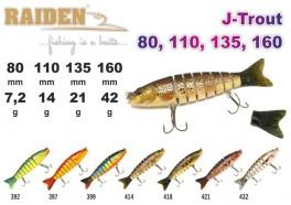 @ Vobleris RAIDEN «J-Trout» 160 S (42 g, 160 mm, krāsa 418, iep. 1 gab.)