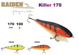 @ Vobleris RAIDEN «Killer» 170 WS (100 g, 170 mm, krāsa SS0410, iep. 1 gab.) koks