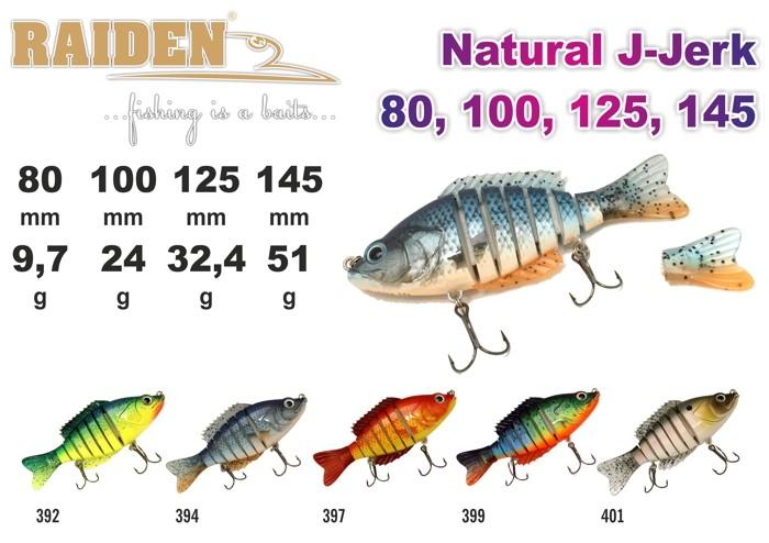 @ Vobleris RAIDEN «Natural J-Jerk» 145 S (51 g, 145 mm, krāsa 397, iep. 1 gab.)