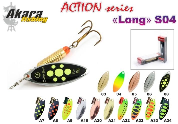 Lure AKARA «Long N1+» Action S04 RT (spinner bait, 6,5 g, Nr. 1+, colour: A15, pack. 1 items)