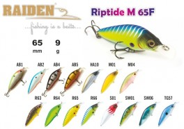 @ Vobleris RAIDEN «Riptide M» 65 F (9 g, 65 mm, krāsa TG57, iep. 1 gab.)