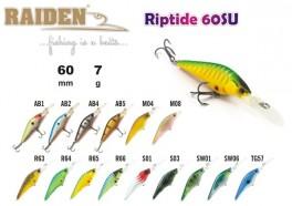 @ Vobleris RAIDEN «Riptide» 60 F (7 g, 60 mm, krāsa R63, iep. 1 gab.)