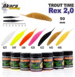 Silikona māneklis AKARA SOFTTAIL «Trout Time REX 2» Garlic (50 mm, krāsa 420, iep. 10 gab.)___ ! UP !