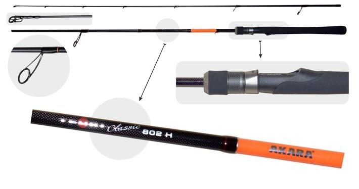 Makšķerkāts AKARA «TEURI Classic H TX-30» 2X (saliek., 2,44 m, oglekļšķ., 169 g, tests: 21-56 g) H802