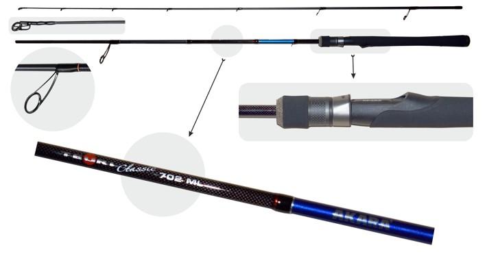 Makšķerkāts AKARA «TEURI Classic ML TX-30» 2X (saliek., 2,10 m, oglekļšķ., 120 g, tests:5,5-17,5 g) ML702