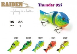 @ Vobleris RAIDEN «Thunder» 95 WS (35 g, 95 mm, krāsa SK0207, iep. 1 gab.) koks