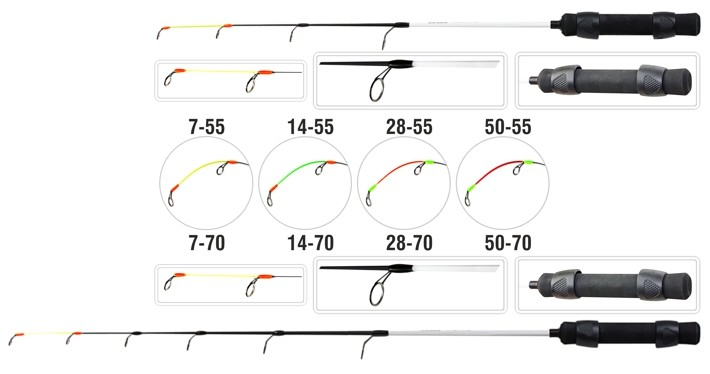 Ziemas makšķere AKARA Ice Jig Profi (55 cm, slodze 7 g, krāsa: )