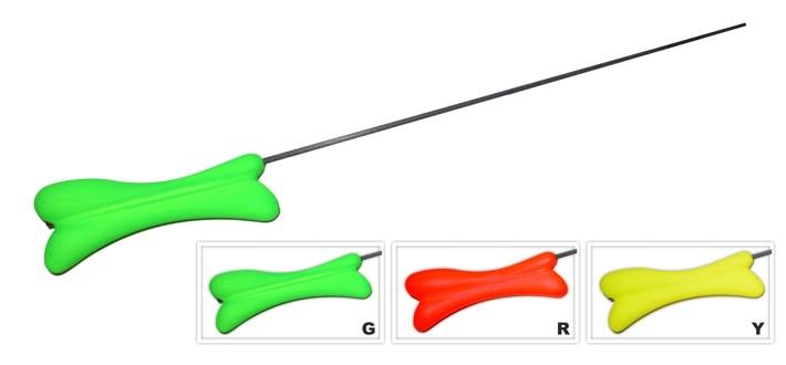 Ziemas makšķere AKARA RK-W2 (HiCarbon spice, 38 cm, rokturis 120 mm, zaļa)